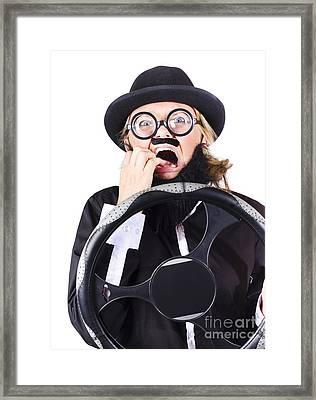 Careless Driver Framed Print by Jorgo Photography - Wall Art Gallery