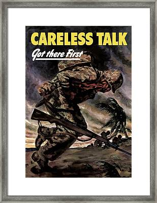 Careless Talk Got There First  Framed Print by War Is Hell Store