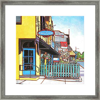 Caren's Corner Framed Print by Nadi Spencer