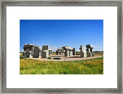 Carhenge Framed Print by Edwin Verin