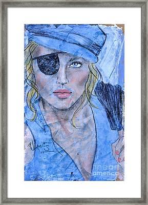 Caribbean Blue Framed Print by P J Lewis