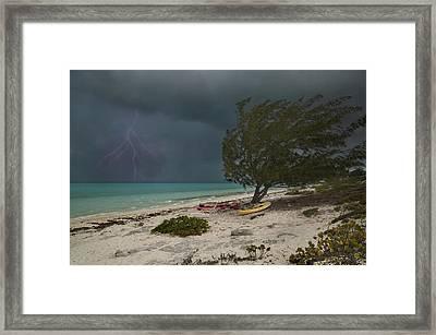Caribbean Bolt Framed Print by Betsy Knapp