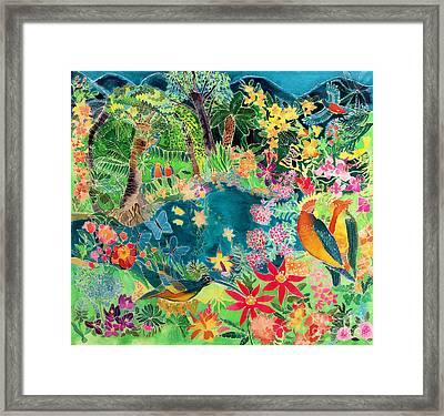 Caribbean Jungle Framed Print by Hilary Simon