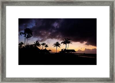 Caribbean Silhouette Framed Print by Ryan Burton