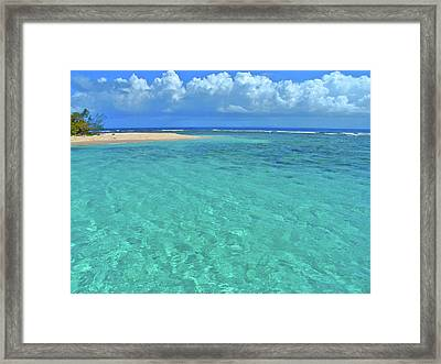 Caribbean Water Framed Print by Scott Mahon