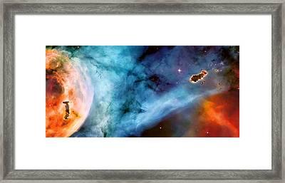 Carina Nebula #5 Framed Print by The  Vault - Jennifer Rondinelli Reilly