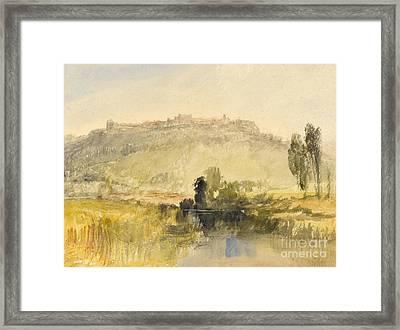 Carisbrooke Castle Framed Print by Joseph Mallord William Turner