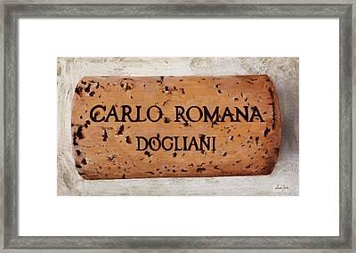 Carlo Romana Dogliani Framed Print by Danka Weitzen