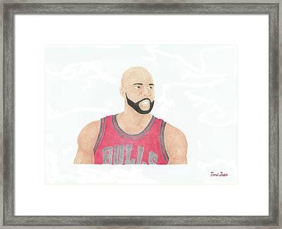 Carlos Boozer Framed Print by Toni Jaso