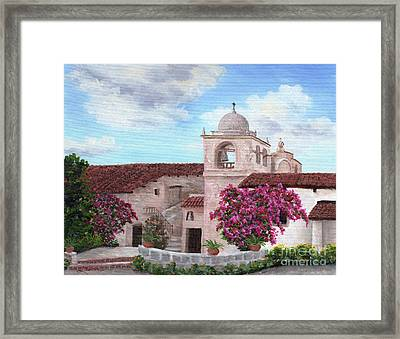 Carmel Mission In Spring Framed Print by Laura Iverson