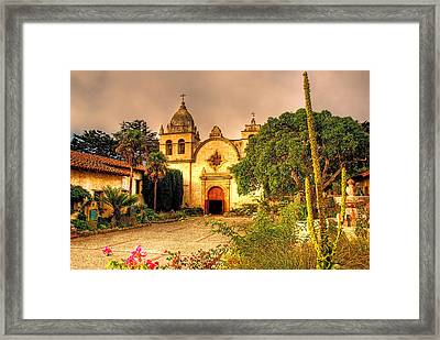Carmel Mission Framed Print by Maria Coulson