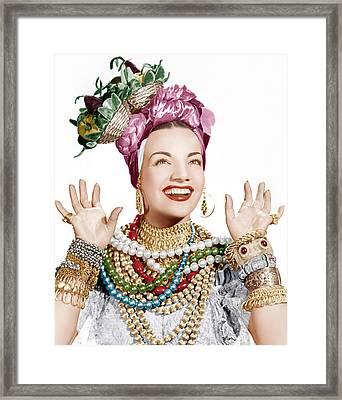 Carmen Miranda, Ca. Late 1940s Framed Print by Everett