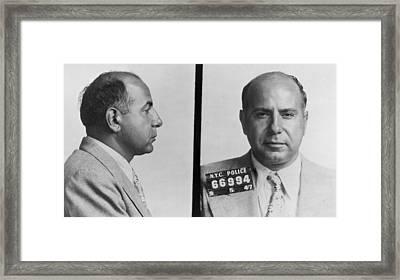 Carmine Galante 1910-1979 Framed Print by Everett