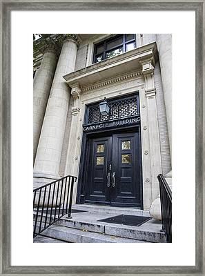 Carnegie Building Penn State  Framed Print by John McGraw