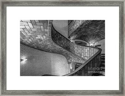 Carnegie Mellon University Baker Hall Stairway Framed Print by University Icons