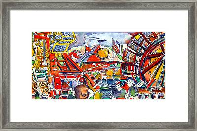 Carnival Midway Framed Print by Mindy Newman