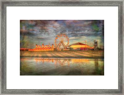 Carnival - Old Orchard Beach - Maine Framed Print by Joann Vitali