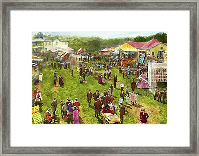 Carnival - Summer At The Carnival 1900 Framed Print by Mike Savad