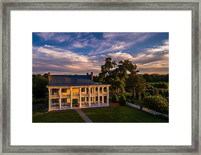 Carnton At Sunset Framed Print by Ken Everett