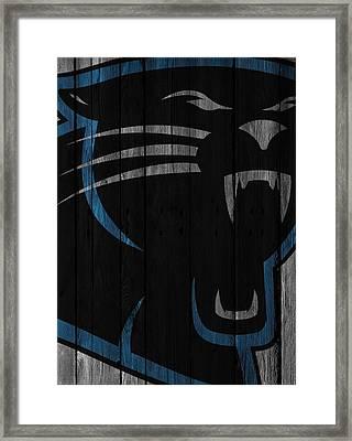 Caroilina Panthers Wood Fence Framed Print by Joe Hamilton