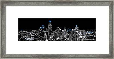 Carolina Blue - Uptown Pano Blue Framed Print by Chris Austin