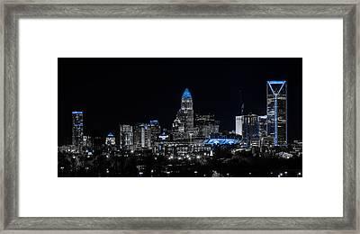 Carolina Blue - Westside Blue Framed Print by Chris Austin