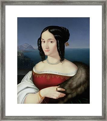 Carolina Grossi Framed Print by Peter von Cornelius