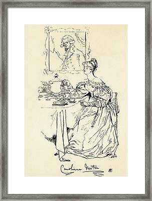 Caroline Elizabeth Sarah Norton, 1808 Framed Print by Vintage Design Pics