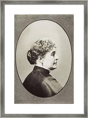 Caroline Lavinia Scott Harrison Known Framed Print by Vintage Design Pics