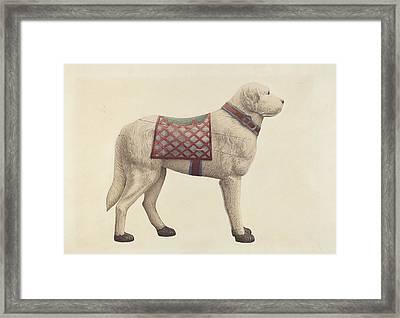 Carousel Dog Framed Print by Robert Pohle