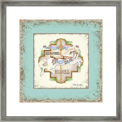 Carousel Dreams - Horse Framed Print by Audrey Jeanne Roberts