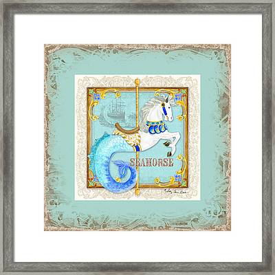 Carousel Dreams - Seahorse Framed Print by Audrey Jeanne Roberts