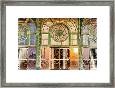 Carousel Entrance Framed Print by Tom Rostron