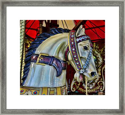 Carousel Horse - 7 Framed Print by Paul Ward