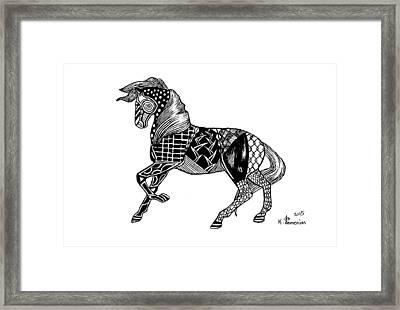 Carousel Horse Framed Print by Kayleigh Semeniuk