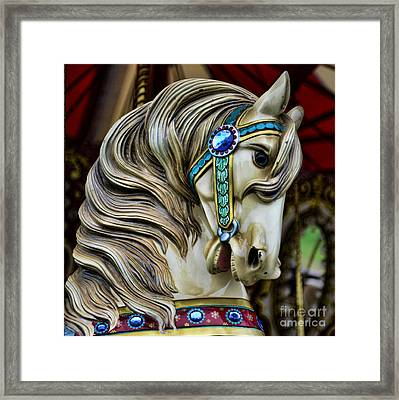 Carousel Horse  Framed Print by Paul Ward