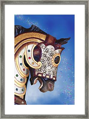 Carousel Horse Framed Print by Tom Mc Nemar
