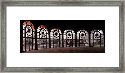Carousel Windows, Asbury Park, Nj Framed Print by John Spilatro