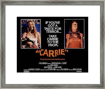 Carrie, Sissy Spacek, 1976 Framed Print by Everett