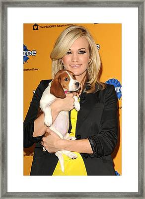 Carrie Underwood At A Public Appearance Framed Print by Everett