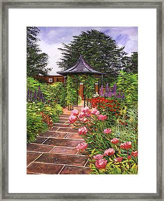 Carrington Garden Framed Print by David Lloyd Glover