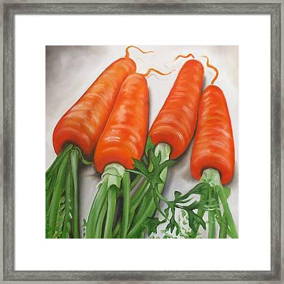 Carrots Framed Print by Ilse Kleyn
