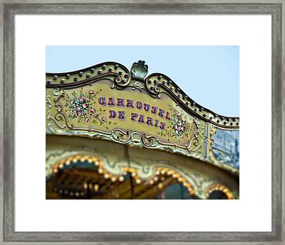 Carrousel De Paris Framed Print by Melanie Alexandra Price