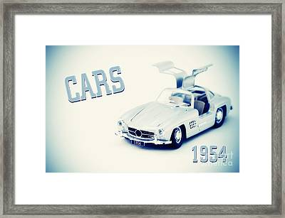 Cars 1954 Framed Print by Angela Doelling AD DESIGN Photo and PhotoArt
