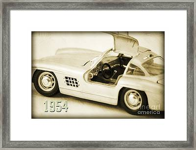 Cars 1954 II Framed Print by Angela Doelling AD DESIGN Photo and PhotoArt