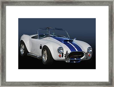 Cars Coffee Cobra Framed Print by Bill Dutting