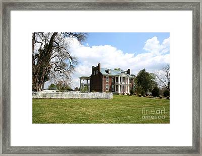 Carter House And Carnton Plantation Framed Print by John Black