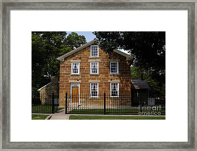 Carthage Jail, Where Joseph Smith, Jr. And Hyrum Smith Were Murdered, Carthage, Illino Framed Print by Niday Picture Library