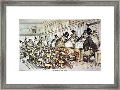 Cartoon: Anti-trust, 1889 Framed Print by Granger