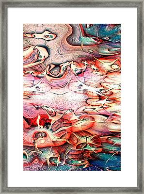 Cartoon Planet Framed Print by Linda Sannuti